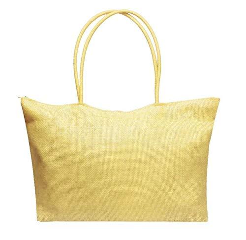 Holiday Beach capaciteit super grote strandtas tuin rietje eenkleurig handgemaakte reistas stoffen tas dames