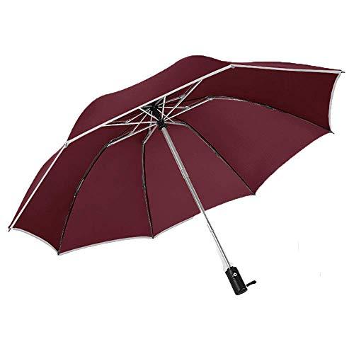 ZHANGYY Faltschirm Winddichtes Design Kompakt Schnelltrocknender Regenstock Wind Automatisches Öffnen und Schließen eines großen, verstärkten, winddichten Rahmens