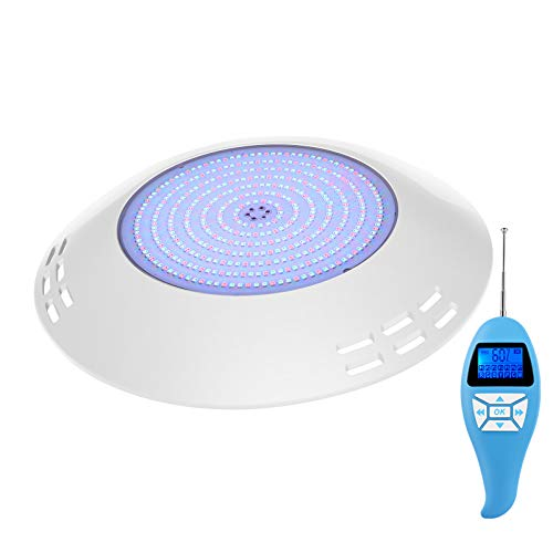 LyLmLe Foco LED Piscina Relleno de Resin, 35W Lámpara Piscina RGB Multicolor con Control Remoto para Superficie extraplano,Ángulo de haz de 140 °,IP68 Impermeable,12V AC