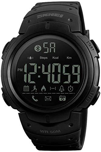 LIUQ Reloj Inteligente Hombres Mujeres Multifunción Moda Deporte Reloj electrónico Bluetooth Podómetro Información fotográfica Aplicación Recordatorio de aplicación Reloj Inteligente-Negro