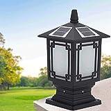 Naiyn Solar Post Cap Light Retro al aire libre Pilar Luz de