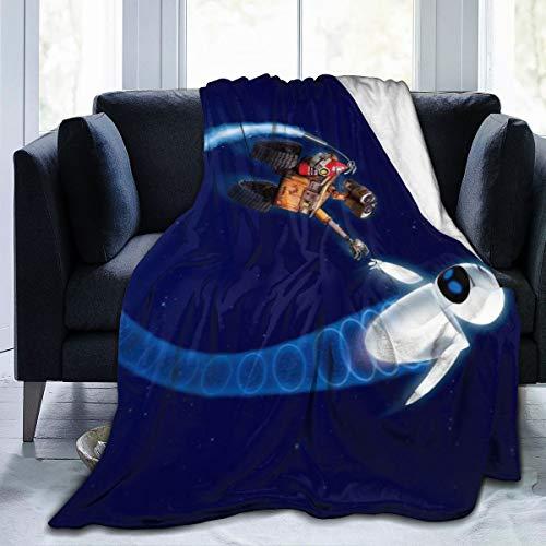 "Wall-E Ultra-Soft Micro Fleece Throw Blanket 3D Printed Lightweight Cozy Bed Sofa Blanket 80"""" x60"