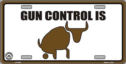 Smart Blonde LP-4687 Gun Control Metal Novelty License Plate