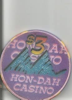 $3 hon-dah casino one year anniversary white mountain apache casino chip vintage
