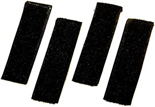 Del Molle Strips for Attaching Tactical ID Patches - for 3-inch high Patches - 4-Count - Black