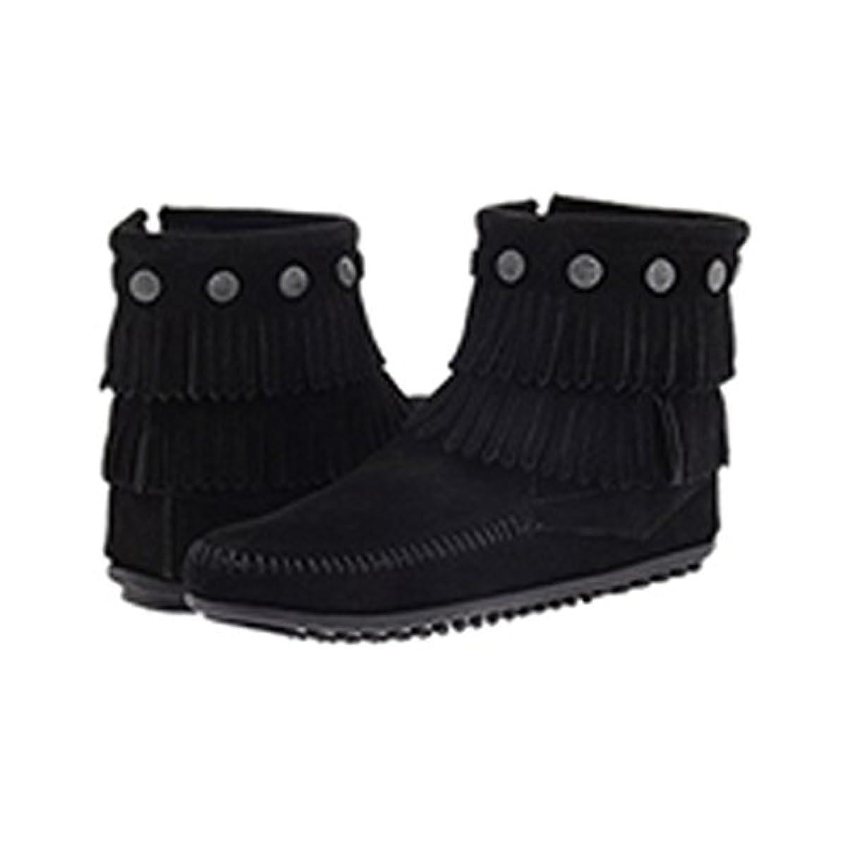 聴覚まろやかな幾分【MINNETONKA ミネトンカ】ウィメンズ ダブルフリンジ サイドジップ ブーツ Double Fringe Side Zip Boot|Women's 並行輸入品