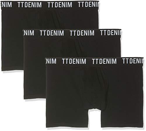 TOM TAILOR Denim Herren 1004002 Boxershorts, Schwarz (Black 29999), X-Large (Herstellergröße: XL)