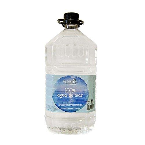 Holoslife 2500000005 Agua de Mar - 3 Recipientes de 5000 ml - Total: 15000 ml