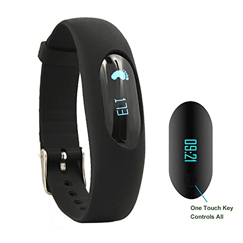 Willful Non-BT Pedometer Bracelet Fitness Tracker Watch with Step Calories Counter Sleep Monitor Distance Time/Date (Simple,No app,No Phone Need) for Walking Running Kids Men Women (Black)