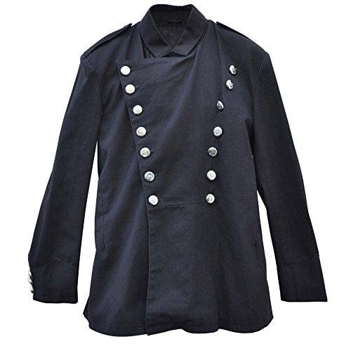 Zoelibat 20004241.008L Herren Steampunk Jacke/Blazer mit Stehkragen und schräger Knopfleiste, Groß...