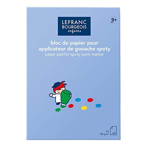 Lefranc & Bourgeois 175346 Papierblock A3 Spoty -Malblock für Kinder mit 5 vorgezeichneten Motiven zum ausmalen und 20 leeren Blätter