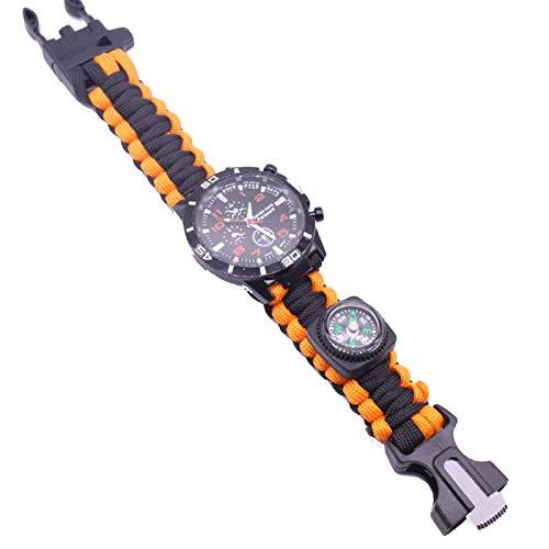 LINMAN Reloj de Supervivencia Camping al Aire Libre Médico Multifuncional Termómetro Termómetro Rescate Paracord Pulsera Equipo de Herramientas Kit (Color : A5)