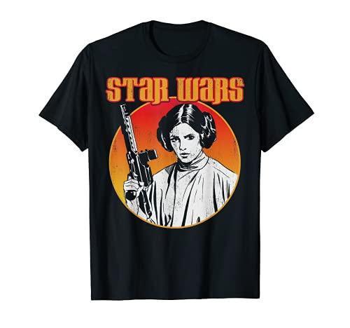 Star Wars Princess Leia Rock Band Tee Badge Graphic T-Shirt