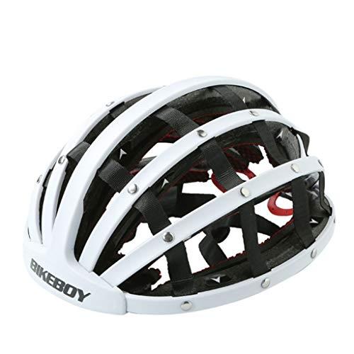 Shuhong Fietshelm, opvouwbaar, lichte, draagbare veiligheid, fietshelmen, stadsfietsen, sporten, vrije tijd, fietshelm, mannelijk en vrouwelijk, 57-62 cm