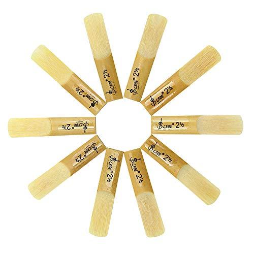 Alto Sax Reeds, Alto saxophone reeds Strength 2.5; Box of 10 Pack (Alto Eb)