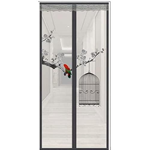 HXWJ Puerta de Pantalla magnética súper Fuerte, Cortina de Malla de Fibra de Vidrio Fuerte, Sello magnético de Arriba a Abajo se Ajusta automáticamente, Mantiene el Aire Fresco en el Interior