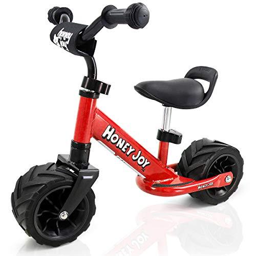 COSTWAY 6,5 Zoll Laufrad, Balance Fahrrad ab 1 Jahre, Balance Bike aus Stahl, Kinderlaufrad mit Pedal, Lauflernrad für Jungen und Mädchen, Kinder Fahrrad rutschfest, Lernlaufrad 66 x 38 x 55cm (Rot)