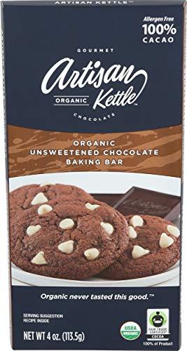 Artisan Kettle Organic Unsweetened Chocolate Baking Bar, 4 OZ