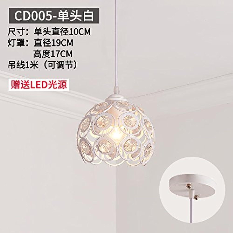 BESPD Modernes, minimalistisches Runde kreative Restaurant Continental Kronleuchter Deckenlampe Pendelleuchte Zitronengelb Cd005-Einzelne weie LED