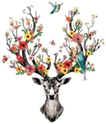 LIXIESHA niños DIY Pintura al óleo Pintada Juego de Tronos Dragon Color-with Frame-40x50cm
