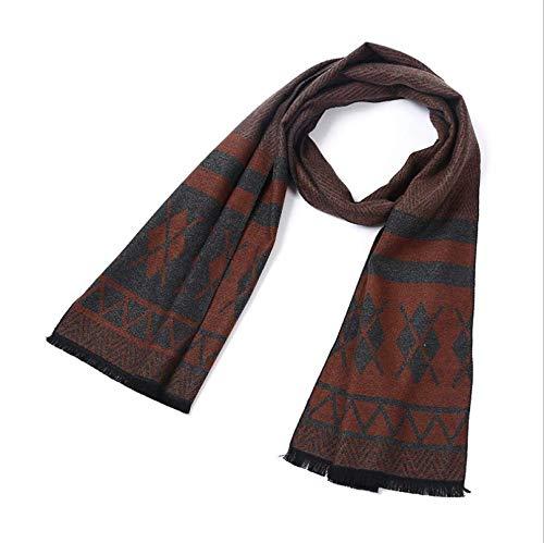 Sportinggoods New Men's Scarf heren herfst en winter warme dikke plaid geborsteld katoenen sjaal