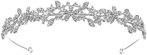SAMKY Floral Rhinestone Crystal Prom Wedding Headband Tiara T1077 product image