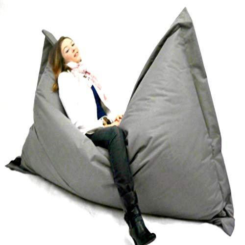 Sitzbag Sitzsack XXXL 180x145cm - Farbe Hellgrau In & Outdoor - Mit Füllung Styropor - Sitzsäcke - Bodenkissen Sofa Kind Hocker Möbel Bag Sitzkissen Kissen Sessel