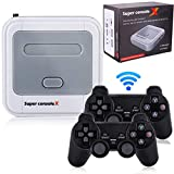 Hawiton Wireless Retro Game Console with Dual 2.4GHz Controllers Gamepads, Super Console X Handheld Video TV Game Console Built in 41000+ Games, 50+ Emulator Console for 4K TV HDMI/AV Output, 128GB