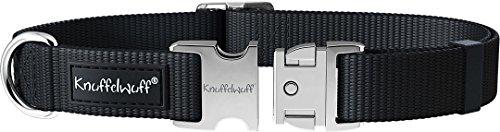Knuffelwuff 13947-009 ALU Hundehalsband Active Schwarz, Nylon, 40-60cm