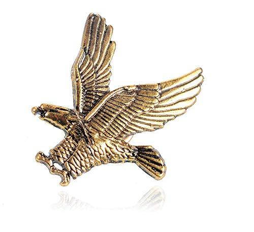 Patch Nation Goldener Adler zu Jagen Badge Pin Pins Anstecker Cosplay Brosche (Gold)