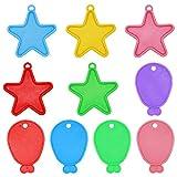 Natuce Gewichte für Helium Ballons in 2 verschiedenen Formen und Viele Arten Farben Ballons...