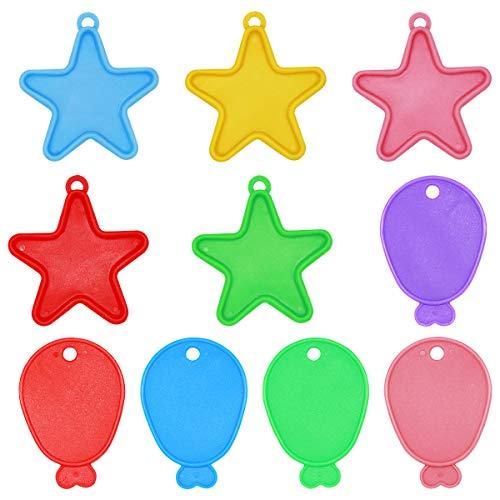 Natuce 20 Piezas Pesas Globos de Helio -Formas y Colores Surtidos - Estrellas, Pescado - Ideales para Fiestas/Fiestas Infantiles