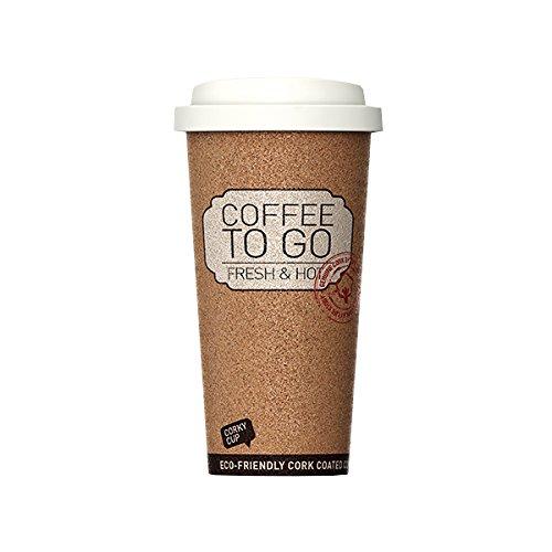 NoName kurk Cup Coffee 2 Go beker met natuurkurk mantel, beige/bruin