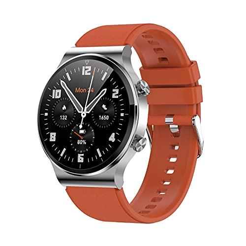 ZGLXZ Reloj Inteligente para Hombres 1.28 Pulgadas Tasa Cardíaca Monitoreo De Presión Arterial Reloj Inteligente Reloj Deportivo Reloj Inteligente para Android iOS,C