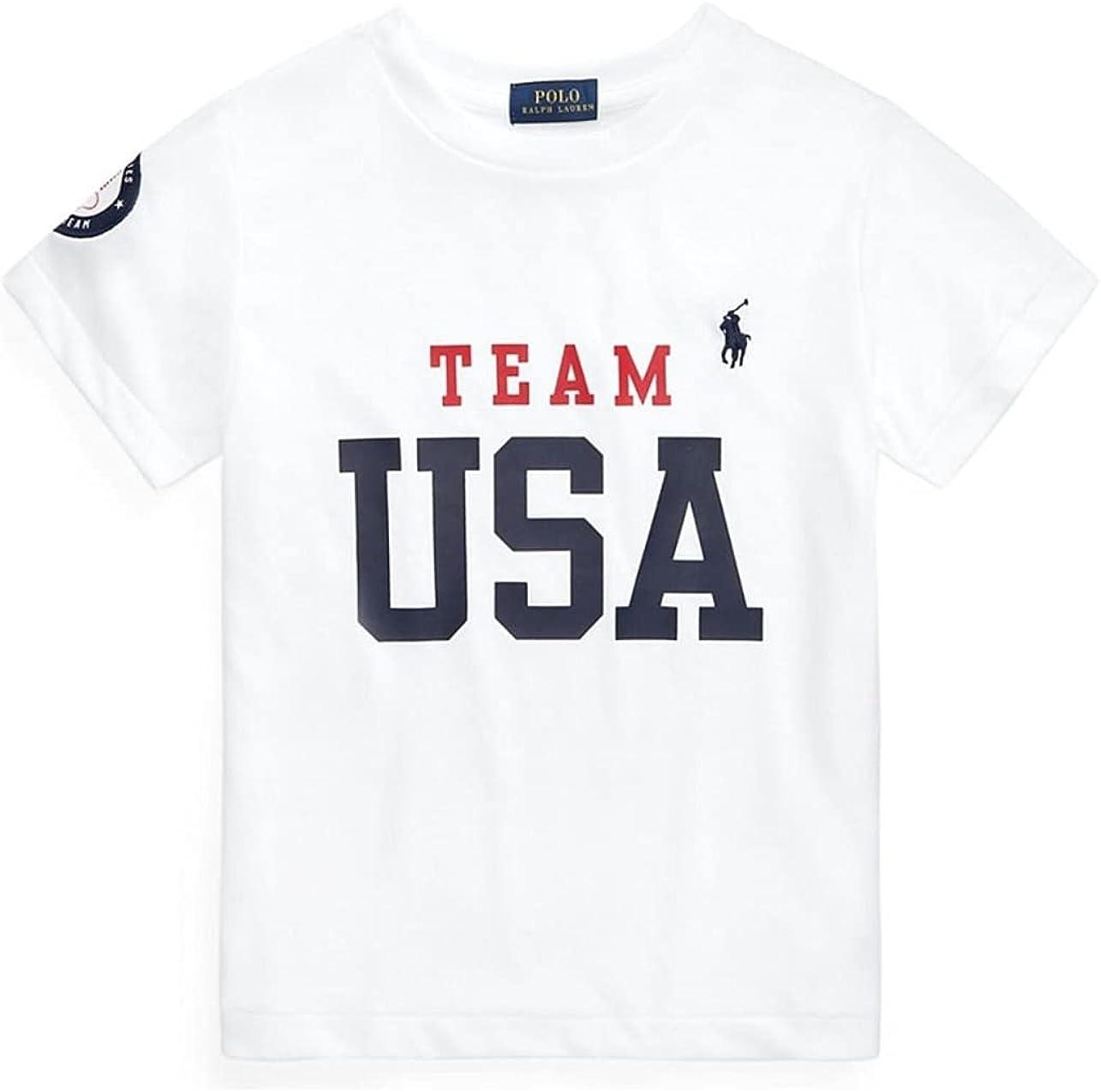 Polo Ralph Lauren Big Boys Big Boys Team USA Jersey T-Shirt L Large 14-16 White