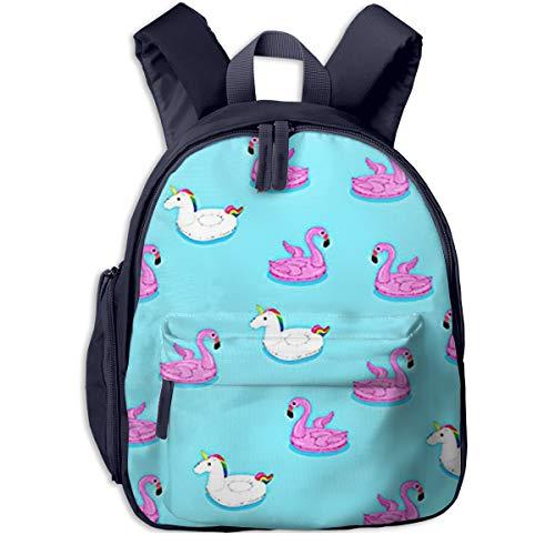 Kinderrucksack Kleinkind Jungen Mädchen Kindergartentasche Schwimmendes Flamingo Pferd Backpack Schultasche Rucksack