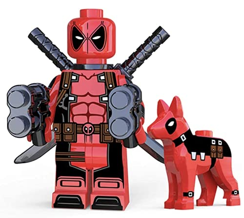 Deadpool W/ Dog Kawaii Mini Figure X-Men Series Marvel...