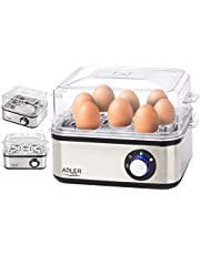 Elektrisk äggkokare   800 watt   För 1–8 ägg   automatisk avstängning med signal   äggkokare   Äggkokare   värmeplatta i rostfritt stål   elektronisk äggkokare