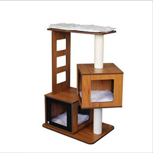 DAYUMAOJIN Árbol de Gato Tower, Muebles de Madera Maciza para Gatos Gato de pie Plataforma de Salto para Gatos Arena para Gatos Suministros para Gatos Juguete para Gatos