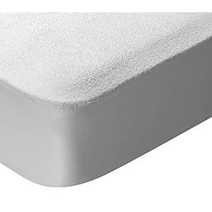 Pikolin Home – Protector de colchón de cuna de algodón de rizo con acabado dermoprotector de Aloe Vera, impermeable y…