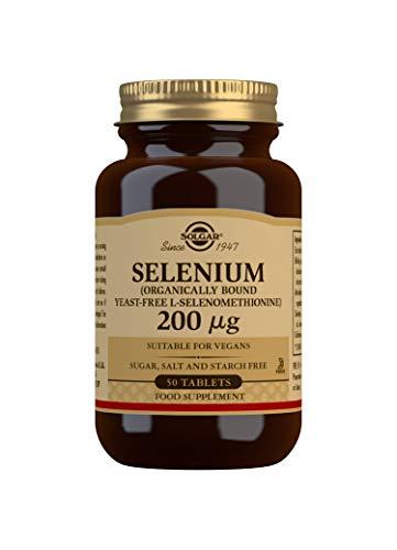 Solgar Selenio (Sin levadura) Comprimidos de 200 µg - Envase de 50