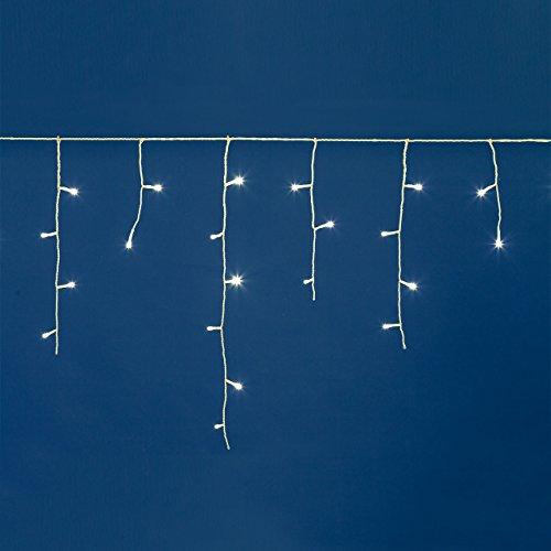 Stalattite 10,8 x 0,6 m, 255 LED Bianco Caldo, Cavo Bianco, con Memory Controller, Tendine Luminose, luci di Natale