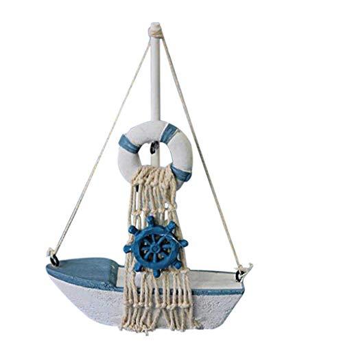 Embarcaciones timonel Estrellas de mar Lifebuoy timón Vela Decoración hogar de la Resina Hace...