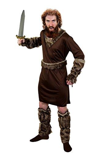 Disfraz de hombre salvaje con tronos medievales de espada y trones salvajes perfecto para fiestas de TV y película, talla XXL