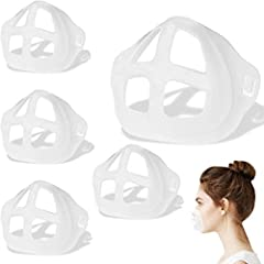 【Smooth Your Breath】More Space for Breathing,it holds up the mask fabric around the mouth to create more breathing space when a mask is put on face. 【Protect Your Makeup】Can protect your face makeup and avoid lipstick sticking to fabric. 【Steady insi...