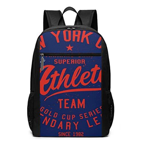 Schulrucksack Typo Varsity Sign Athletic, Schultaschen Teenager Rucksack Schultasche Schulrucksäcke Backpack für Damen Herren Junge Mädchen 15,6 Zoll Notebook
