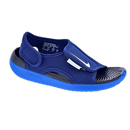 Nike Sunray Adjust 5 V2 (GS/PS), Zapatillas Deportivas, Blue Void Pure Platinum Signal Blue Black, 37.5 EU