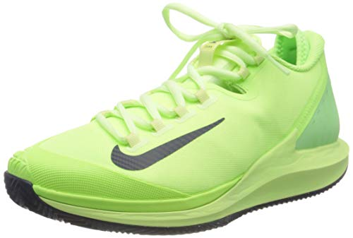Nike Mens NIKECOURT AIR ZOOM ZERO CLY Tennis Shoe, GHOST GREEN/BLACKENED BLUE-BARELY VOLT, GHOST GREEN/BLACKENED BLUE-BARELY VOLT, 42