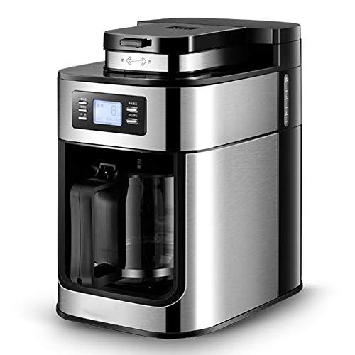 CHYE Filterkaffeemaschine, 1000W Automatische Kaffeemaschine Haushalts Grinder Frisch gekocht Drip-Style American-Style Kaffeekanne Tee-Maschine (Schwarz)
