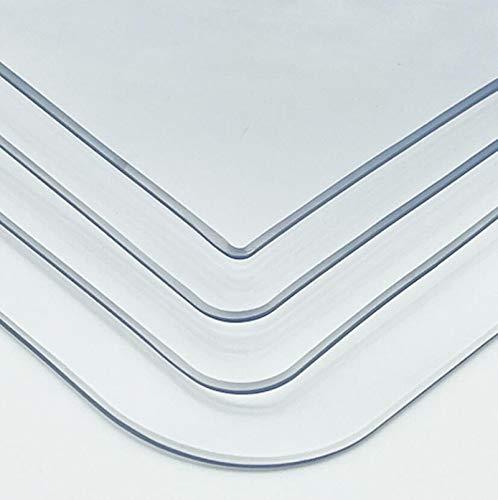 zym Transparente Bordsmatta, Antiskoldning, Vattentät, Oljebeständigt Matbord I Mjukt Glas, TV-skåp, Soffbord, Rektangulär DUK AV Plast (färg: Transparente, Storlek: 150x150cm)(Size:60x60cm)